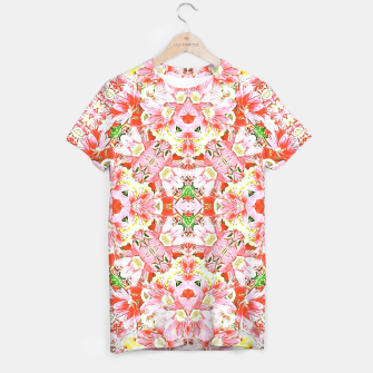 Thumbnail image of K196 Abstract Pink Flowers  T-shirt, Live Heroes