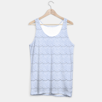 Miniatur Serenity Blue Faux Lace  Tank Top, Live Heroes
