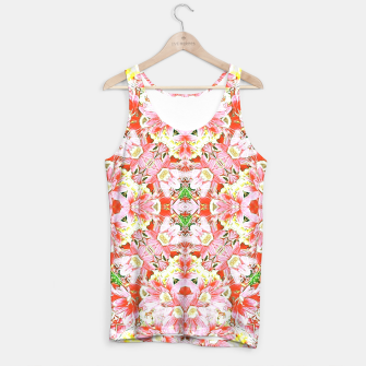 Miniatur K196 Abstract Pink Flowers  Tank Top, Live Heroes