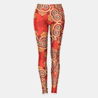 Gold 'n Rusty Curls Abstract  Leggings thumbnail image