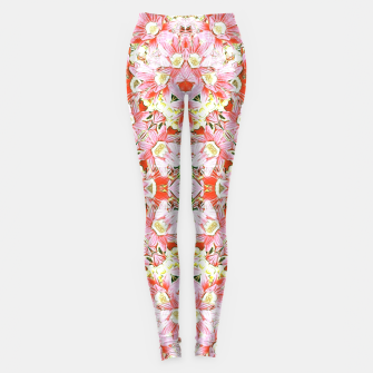 K196 Abstract Pink Flowers  Leggings thumbnail image