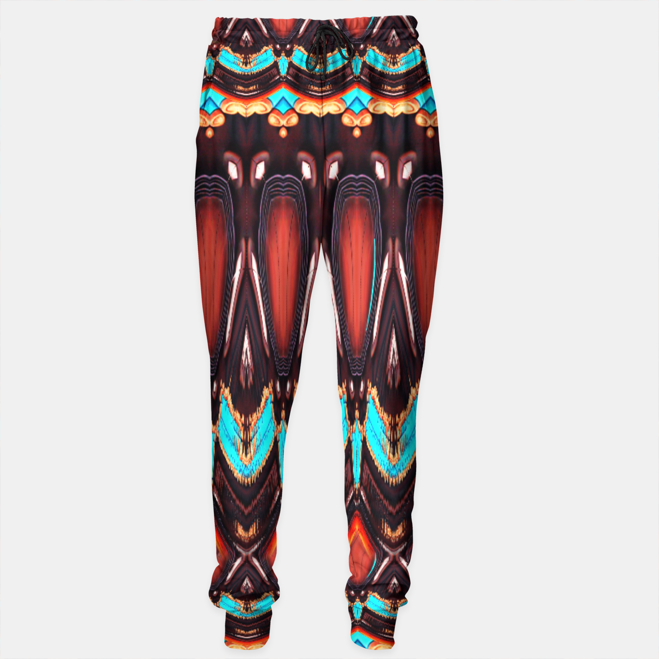 Image of K172 Wood and Turquoise Abstract Sweatpants - Live Heroes