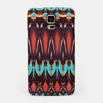 K172 Wood and Turquoise Abstract Samsung Case thumbnail image