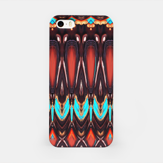 K172 Wood and Turquoise Abstract iPhone Case thumbnail image