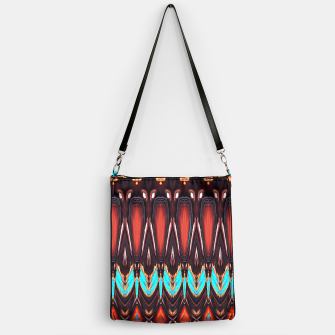 K172 Wood and Turquoise Abstract Handbag thumbnail image