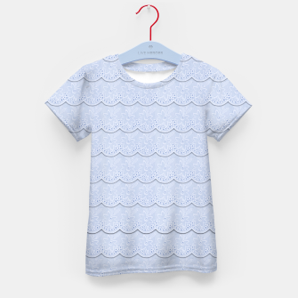 Thumbnail image of Serenity Blue Faux Lace  Kid's T-shirt, Live Heroes