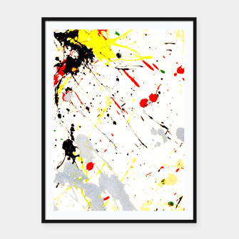 Thumbnail image of Paint Splatter Framed poster, Live Heroes