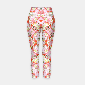 Thumbnail image of K196 Abstract Pink Flowers  Yoga Pants, Live Heroes