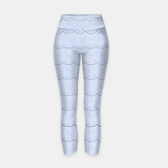 Thumbnail image of Serenity Blue Faux Lace  Yoga Pants, Live Heroes