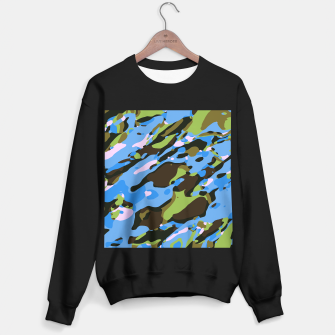 Thumbnail image of camouflage graffiti painting texture abstract in green blue and brown Sweater regular, Live Heroes