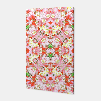 K196 Abstract Pink Flowers  Canvas thumbnail image