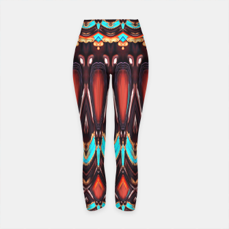 K172 Wood and Turquoise Abstract Yoga Pants thumbnail image