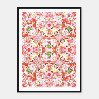 K196 Abstract Pink Flowers  Framed poster thumbnail image