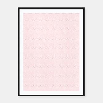 Thumbnail image of Rose Quartz Pink Faux Lace Framed poster, Live Heroes