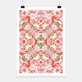 K196 Abstract Pink Flowers  Poster thumbnail image