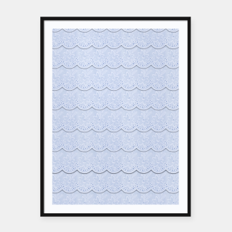 Thumbnail image of Serenity Blue Faux Lace  Framed poster, Live Heroes