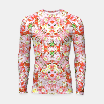 K196 Abstract Pink Flowers  Longsleeve Rashguard  thumbnail image