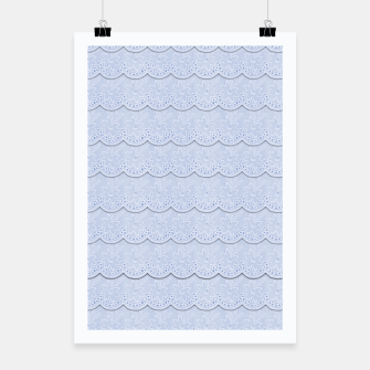 Miniatur Serenity Blue Faux Lace  Poster, Live Heroes