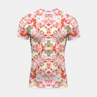K196 Abstract Pink Flowers  Shortsleeve Rashguard thumbnail image