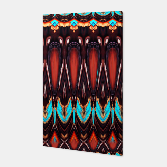 K172 Wood and Turquoise Abstract Canvas thumbnail image