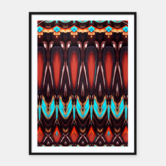K172 Wood and Turquoise Abstract Framed poster thumbnail image