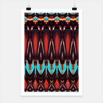 Thumbnail image of K172 Wood and Turquoise Abstract Poster, Live Heroes