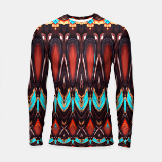 K172 Wood and Turquoise Abstract Longsleeve Rashguard  thumbnail image