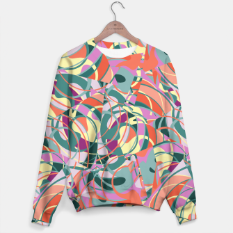 Miniatur Colorful Abstract - Greens and Golds Sweater, Live Heroes