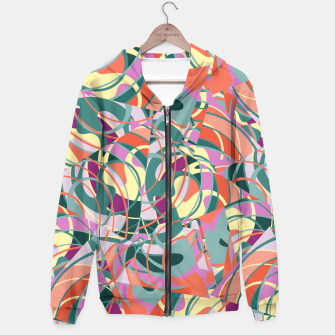 Miniatur Colorful Abstract - Greens and Golds Hoodie, Live Heroes
