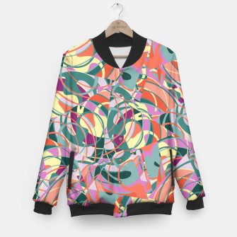 Miniatur Colorful Abstract - Greens and Golds Baseball Jacket, Live Heroes