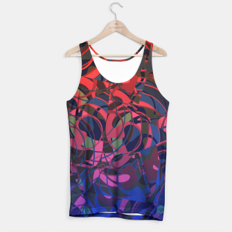 Miniatur Hot Summer Nights Abstract - Reds and Blues Tank Top, Live Heroes