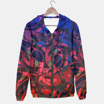 Miniatur Hot Summer Nights Abstract - Reds and Blues Hoodie, Live Heroes