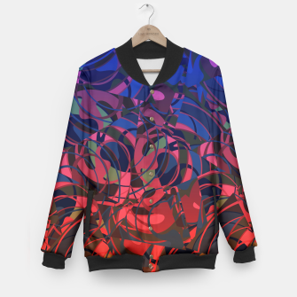 Miniatur Hot Summer Nights Abstract - Reds and Blues Baseball Jacket, Live Heroes