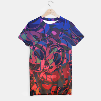 Thumbnail image of Hot Summer Nights Abstract - Reds and Blues T-shirt, Live Heroes