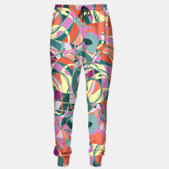 Miniatur Colorful Abstract - Greens and Golds Sweatpants, Live Heroes