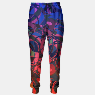 Miniatur Hot Summer Nights Abstract - Reds and Blues Sweatpants, Live Heroes