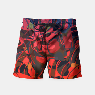 Thumbnail image of Hot Summer Nights Abstract - Reds and Blues Swim Shorts, Live Heroes