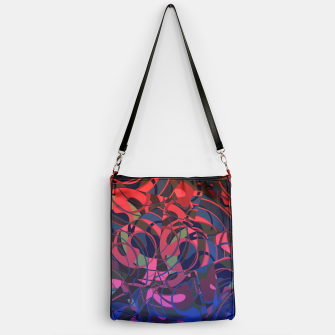 Thumbnail image of Hot Summer Nights Abstract - Reds and Blues Handbag, Live Heroes