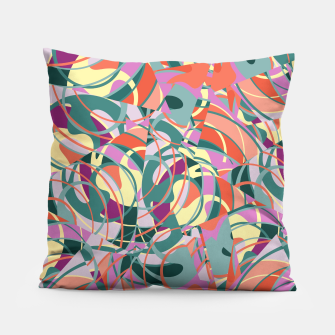 Thumbnail image of Colorful Abstract - Greens and Golds Pillow, Live Heroes