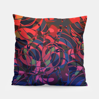Thumbnail image of Hot Summer Nights Abstract - Reds and Blues Pillow, Live Heroes