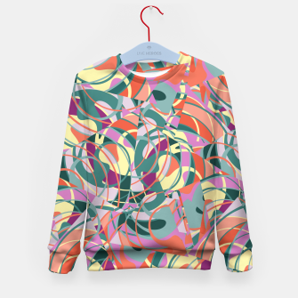 Thumbnail image of Colorful Abstract - Greens and Golds Kid's Sweater, Live Heroes