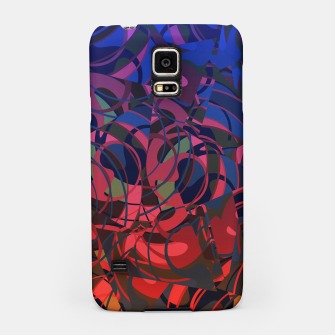 Thumbnail image of Hot Summer Nights Abstract - Reds and Blues Samsung Case, Live Heroes