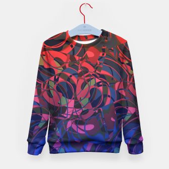 Thumbnail image of Hot Summer Nights Abstract - Reds and Blues Kid's Sweater, Live Heroes