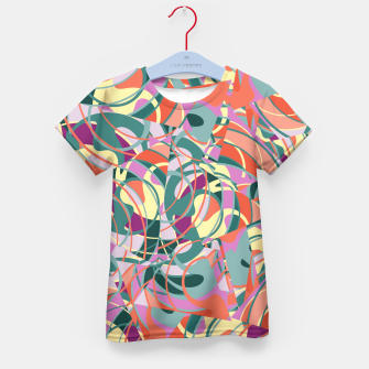 Thumbnail image of Colorful Abstract - Greens and Golds Kid's T-shirt, Live Heroes