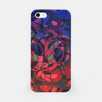 Thumbnail image of Hot Summer Nights Abstract - Reds and Blues iPhone Case, Live Heroes