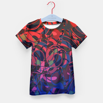 Thumbnail image of Hot Summer Nights Abstract - Reds and Blues Kid's T-shirt, Live Heroes