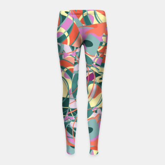 Thumbnail image of Colorful Abstract - Greens and Golds Girl's Leggings, Live Heroes