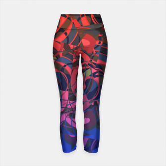 Thumbnail image of Hot Summer Nights Abstract - Reds and Blues Yoga Pants, Live Heroes