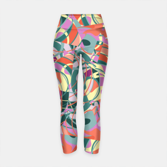 Thumbnail image of Colorful Abstract - Greens and Golds Yoga Pants, Live Heroes