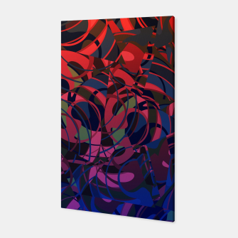 Thumbnail image of Hot Summer Nights Abstract - Reds and Blues Canvas, Live Heroes